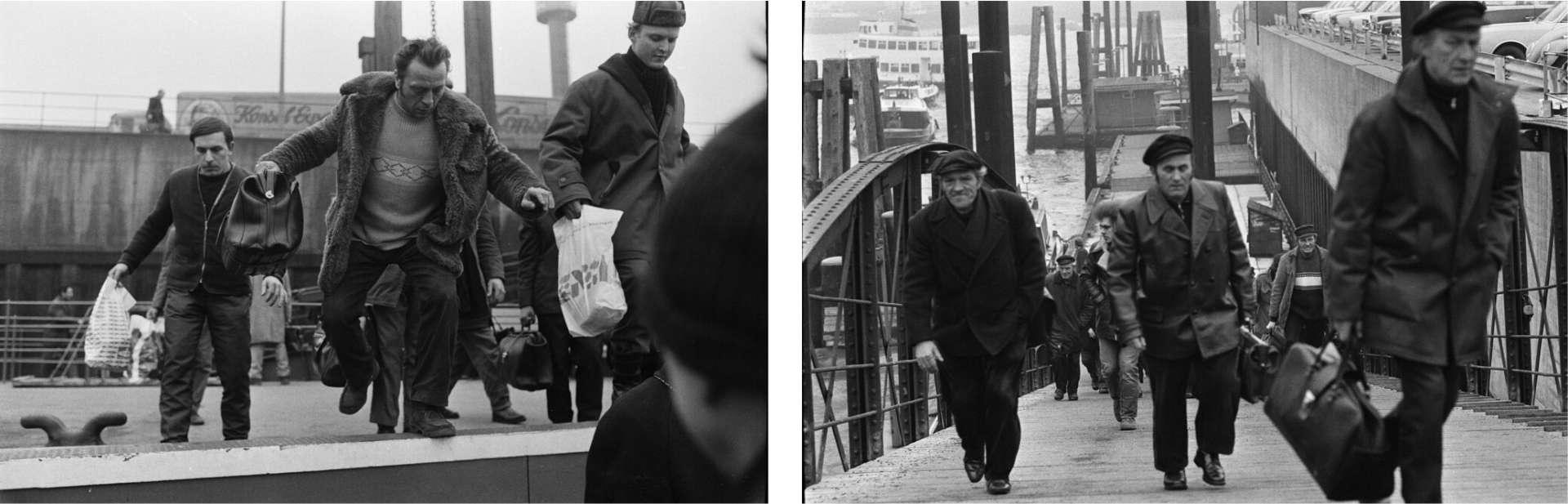 Hafenarbeiter in den frühen 70ern