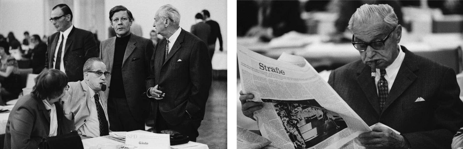 SPD-Spitze in den 70ern in Hamburg